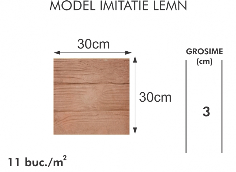 Pavaj vibropresat 007 -  Model imitatie lemn