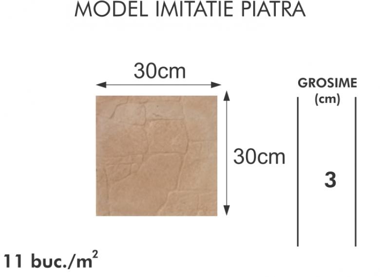 Pavaj vibropresat 008 -  Model imitatie piatra